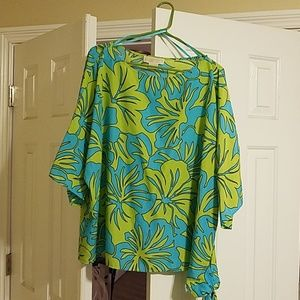 Michael Kors green and blue blouse